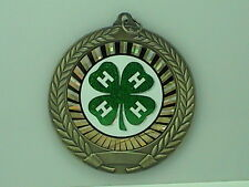 """2-3/4"""" SUN 4 H 4-H Medal w/Ribbon Any Qty Ships Flat Rate $5.49 in USA"""