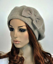 M10 All-Purpose Wool Women's Winter Dress Hat Beanie Beret Cap Cute Bow 5-Color