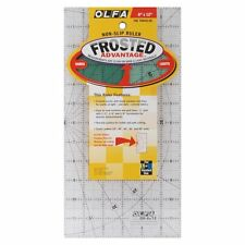 Olfa 6 x 12 OR 1.25 x 12.5 inch or BOTH Non-Slip Frosted Advantage Acrylic Ruler