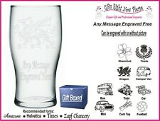 Engraved Pint Glass Personalised God Father Birthday-Christmas  Gift - IM1