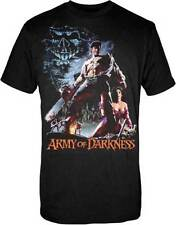 ARMY OF DARKNESS - Smoking Chainsaw - T SHIRT S-M-L-XL New - Official T Shirt