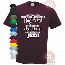 HOGWARTS LOTR JEDI Star wars The Shire funny spoof t-shirt