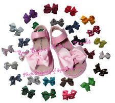 Girls Squeaky Shoes Lt Pink Sandal Add A Bow U-Choose Bow Color and Size Easy!!