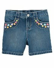 Gymboree BUTTERFLY BLOSSOM Denim Floral Emb Shorts 3 4 6 8 NWT FREE US SHIPPING!