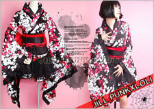 Lolita Goth Japan Geisha 4pc Flora Kimono Sexy Dress LQ001