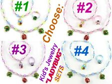 LADYBUG Kids Children Girl Insect Pink Blue Purple Multicolor Jewelry Summer Mom