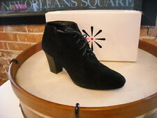 Isaac Mizrahi Nicole BLACK Suede Water Resistant Ankle Boot NEW
