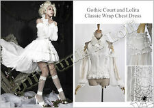 Goth Medieval Visual Tiara Fairy mother Aristocrat flounce halter blouse LY032 W