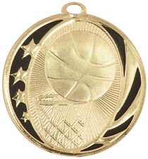 """2"""" MidNite Basketball Medal w/Ribbon Any Qty Ships Flat Rate $5.49 in USA"""