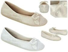 NEW Sheila Bridal Ballet Flats, Indoor Outdoor Sole White, Ivory Lace Satin Bow