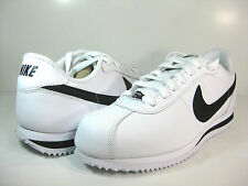 NIKE CORTEZ BASIC LEATHER '06 White/Black-Silver -316418 102- MENS ATHLETIC