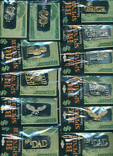 Big Spender 6 Different Metal Designs Money Clips in silver or gold colors New