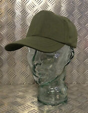 Genuine US Army Olive Green Baseball Hat/Cap With Leather Band - All Sizes - NEW