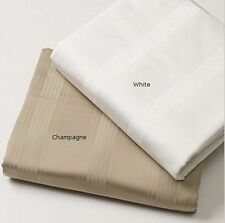 Hudson Park 700 TC Queen Sheet and/or Pillowcases $200 & $110 White / Champagne