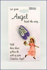 Let Your Angel Lead Way Birthstone Colored Crystal Shoe Slipper Carded Lapel Pin