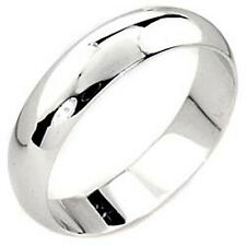 Rhodium Plated Mens Womens Wedding Band Ring Size 6 7 8 9 10 11 12 13 14 New