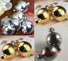 10 Sets New Silver Plated/Gold Plated Round Ball Magnetic Findings Clasps 6/8mm