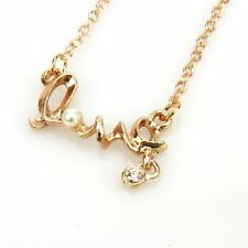 Fashion OL Style dignified letter LOVE Pendant Lystation short Necklace Free PP
