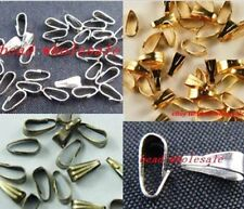 100pcs Silver/Gold/Bronze Tone Copper Findings Diy Necklace Bail Connectors 6mm