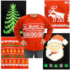 Choose Adult Ugly Tacky Christmas Sweater Funny 8-Bit Medical Holiday Sweatshirt