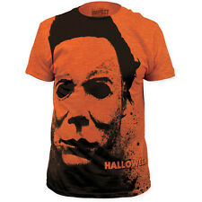 NEW Halloween Micheal Myers Mask Face Vintage Faded Look Horror T-shirt top tee