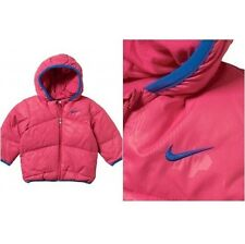 c80. NIKE Infant Girls Puffa Style Jacket Pink RRP £39.99