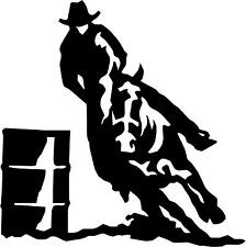 "Barrel Race Horse Cowboy  Decal 2.5""x2.5"" choose color!  vinyl sticker"