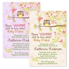 Autumn Fall Owl Baby Shower Bridal Shower Invitations Personalized Invitation