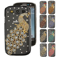 3D Bling Diamond Rhinestone Peacock Hard Cover Case For Samsung Galaxy S3 i9300