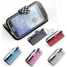 Spotted Flip PU Leather Case Pouch For Samsung Galaxy S III S3 SIII i9300