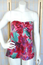 Ann Taylor Loft Silky Floral Tube Tank Top Blouse~Size 6 or 8
