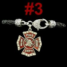 FIREMEN Firefighter Rescue Fireman Hydrant Axe Ladder Cross Maltese Mom Jewelry