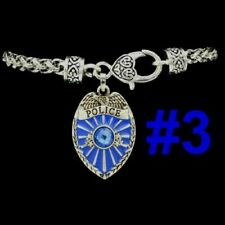 POLICE Sheriff Security POLICEMAN Motorcycle Chopper Cop Bike Badge Blue Jewelry