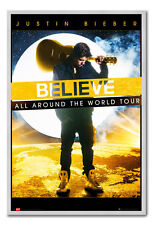 Framed Justin Bieber Believe All Around The World Tour Poster Ready To Hang