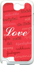 Valentine's Love in Different Languages Samsung Galaxy Note II 2 Hard Case Cover