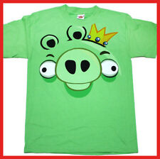 Angry Birds T Shirt King Pig  Face Men Size Licensed Game Tee 4 Size ( So to XL)