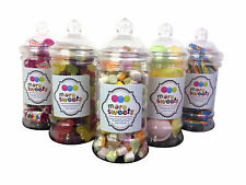 Victorian Retro Sweet Jar filled with 80's Retro Sweets. Stocking Filler Sweets