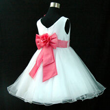 HP668 Hot Pink Wedding Bridesmaid Flower Girls Party Dress 1-2-3-4-5-6-7-8-10-12