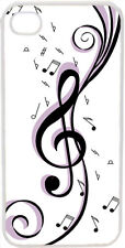 Black and Purple Treble Clef Design on iPhone 4 4s Case Cover