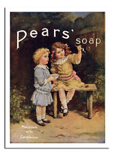 Pears Soap Bubbles Retro Vintage Advert Poster Print New Framed Available