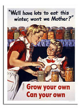 Grow Your Own Can Your Own World War 2 Poster Print New