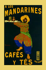 Coffee Cafes Tea Los Mandarines French by Cappiello Vintage Poster Repro FREE SH