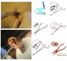 Body Piercing Tools Forceps Clamps Pliers Tongue Belly Septum Nose Lip Ear Punk