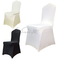 50PCS New Spandex Lycra Chair Covers For Wedding Party Xmas Banquet Decorations