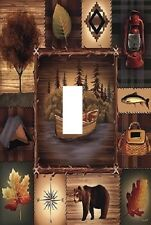 Lodge Cabin Rustic Bear Nature Theme LIGHT SWITCH PLATE cover UNIQUE WALL ART