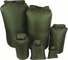 Lightweight Dry WATERPROOF Bag Sack 1, 4, 8, 13, 40, 80 L, Litre DRYBAG Olive