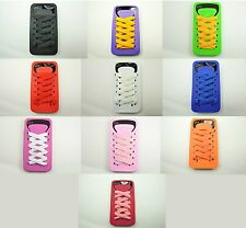 for iPhone 4 4G 4S Shoe Lace Soft Silicone Cell Phone Skin Case Cover Accessory