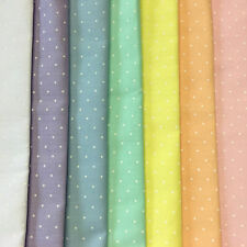 Poly Cotton Pastel Fabric Polka Dot Spot Fat Quarter 50x56cm, Metre 100x112cm