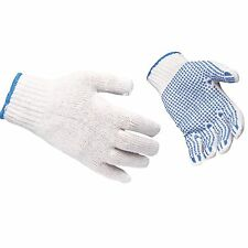 12 PAIRS OF PORTWEST POLYCOTTON POLKA DOT WORK GLOVES  SAFETY GRIP A111 BUDGET