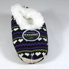 Snoozies Ladies Fleece Slippers Moccasins,  non slip, colourful,warm cosy